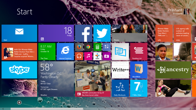 Windows 8.1 - Start Screen