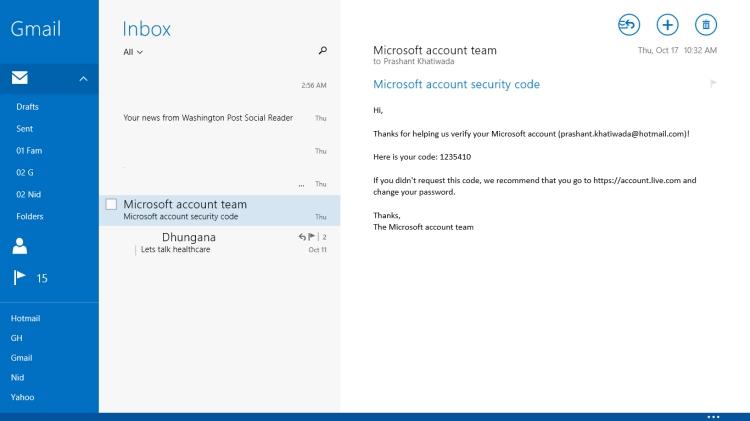 Mail App - Screenshot